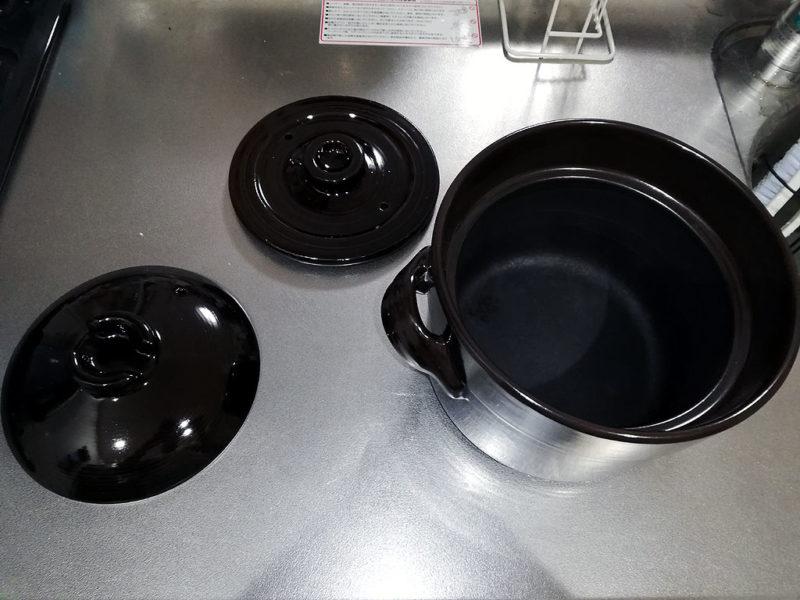 土鍋 ふたを開けた写真