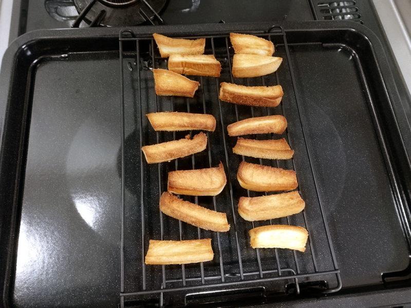 揚げパン 焼いた直後