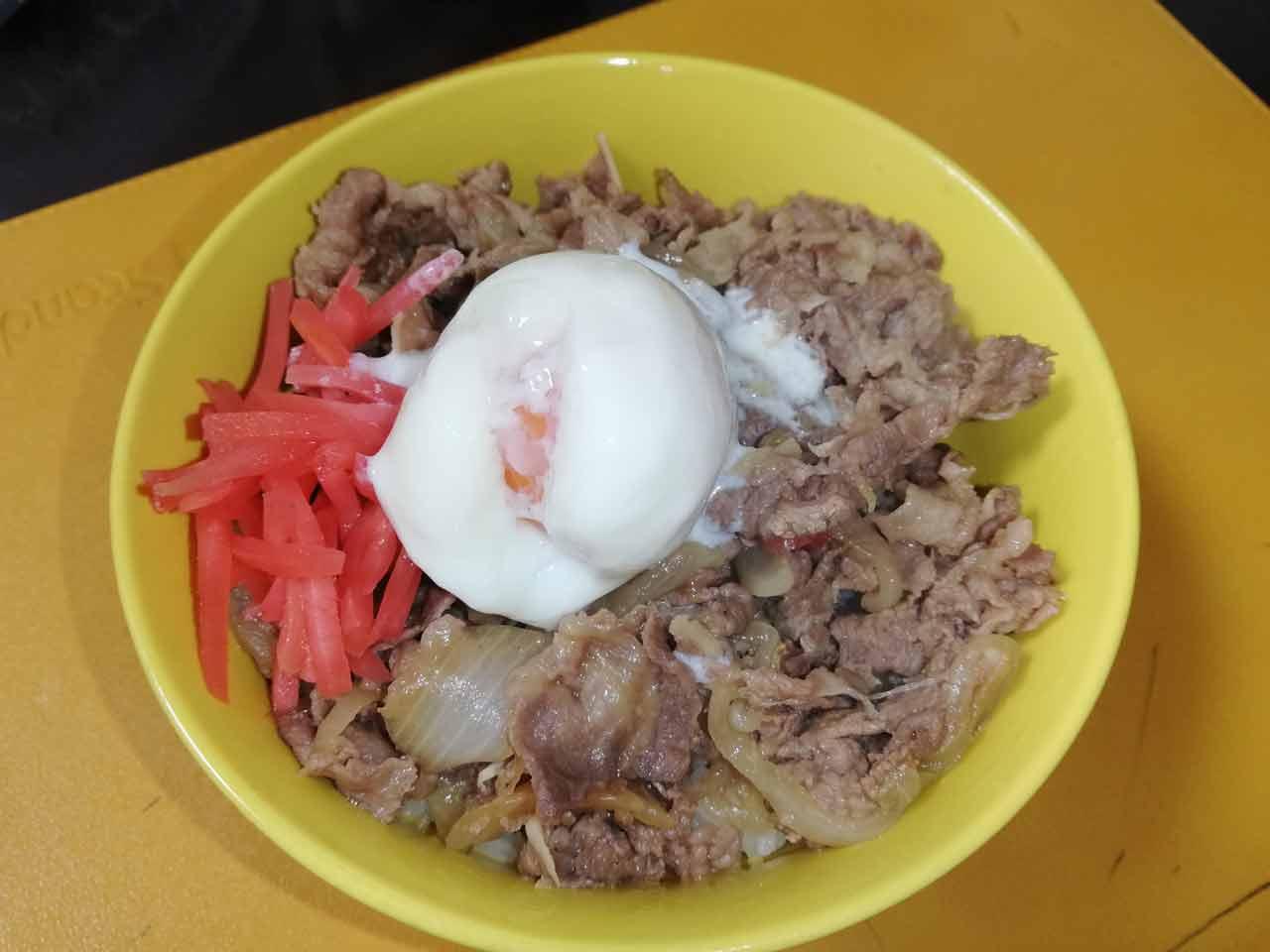 牛丼 温泉卵