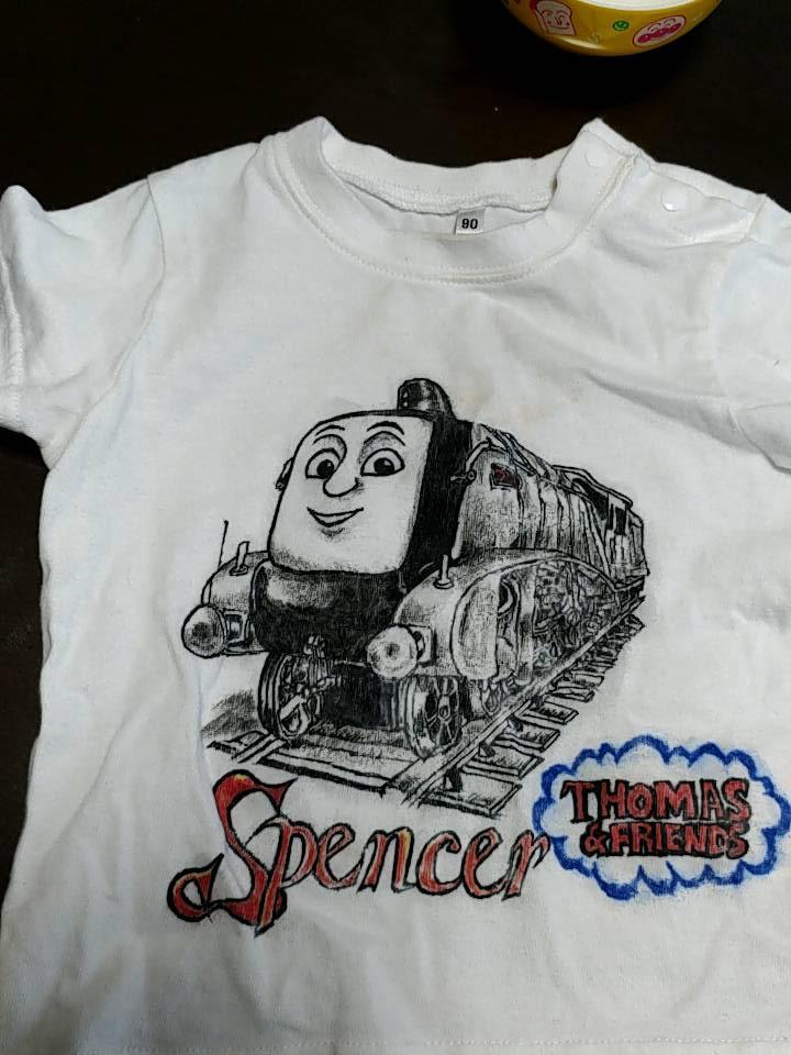 スペンサー 手描きTシャツ