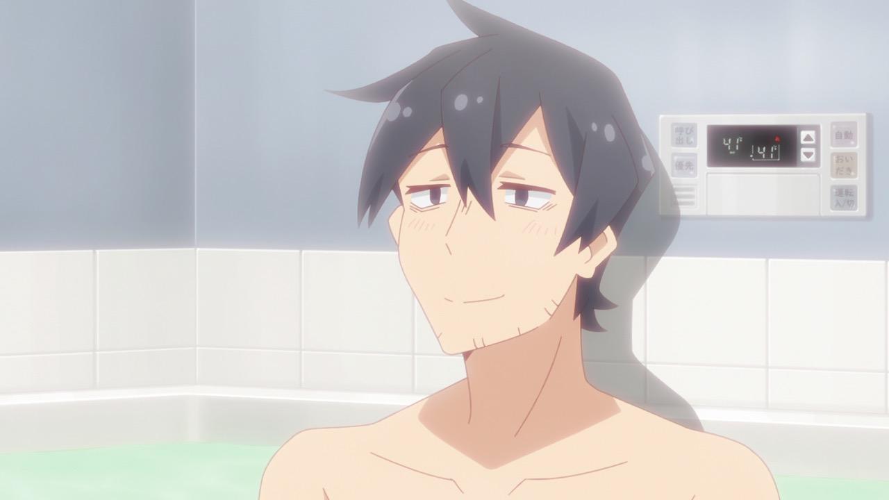 仙狐さん5話 お風呂で疲れをいやす中野君