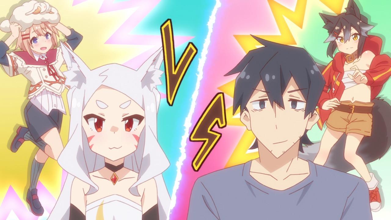仙狐さん6話 最後の1個のおはぎをかけて勝負するシロさんと中野君