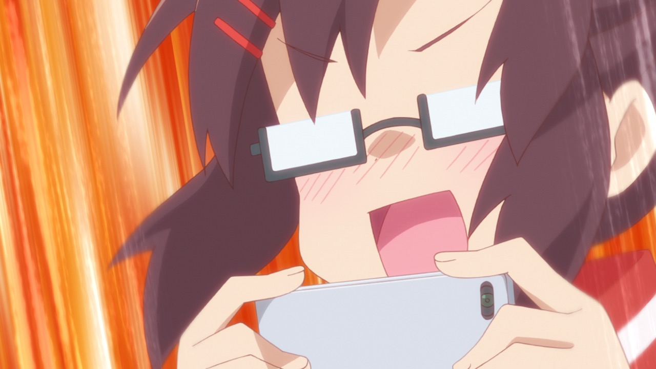 仙狐さん6話 コスプレした仙狐さんを写真に撮りまくる高円寺さん