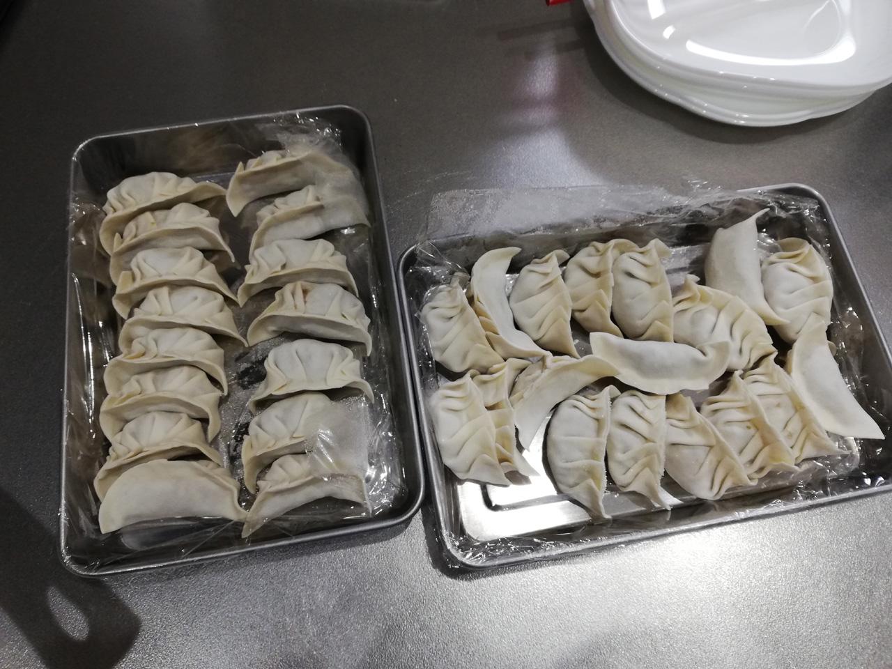 自家製の冷凍餃子