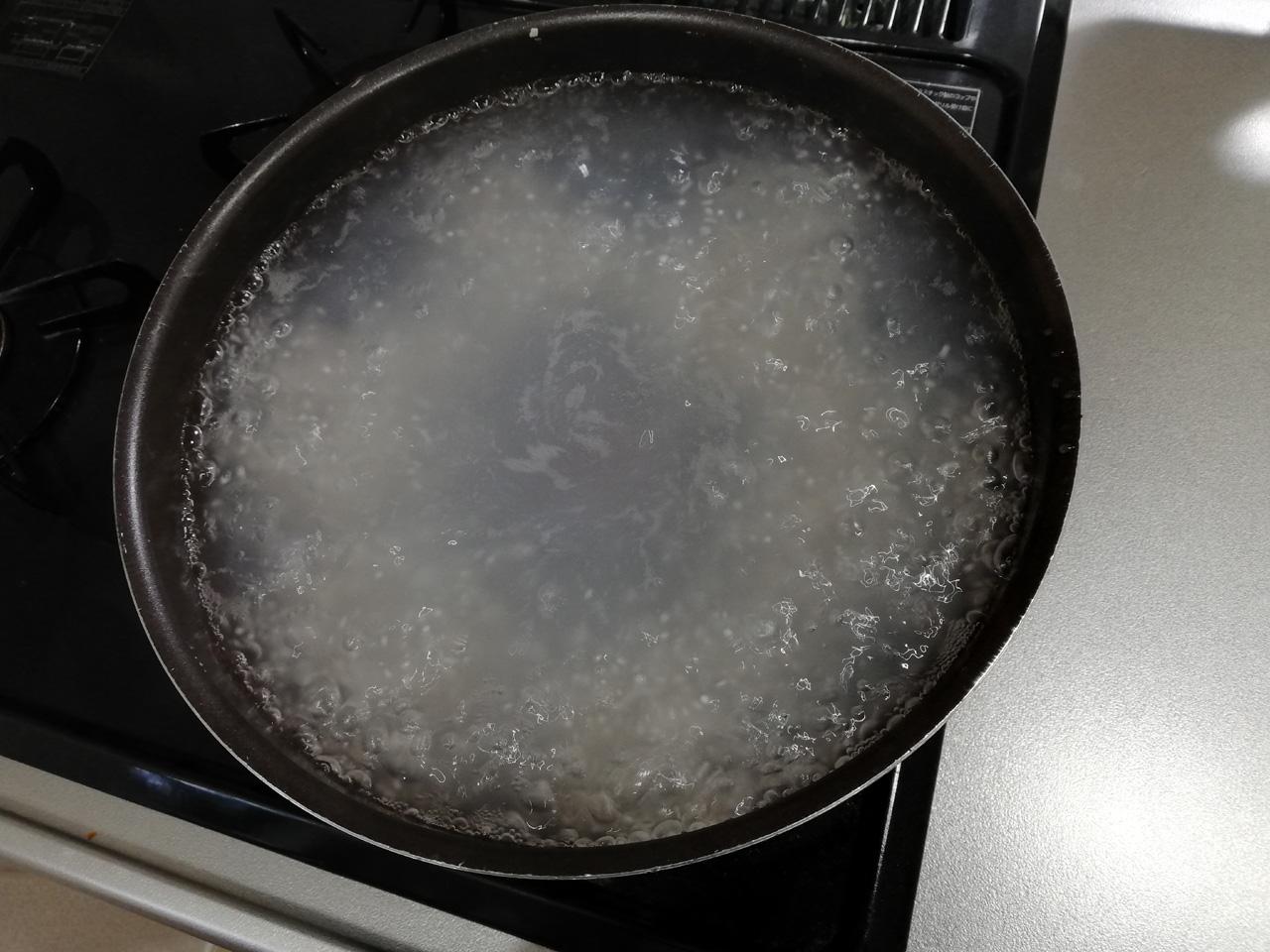 ティファール鍋に入れた