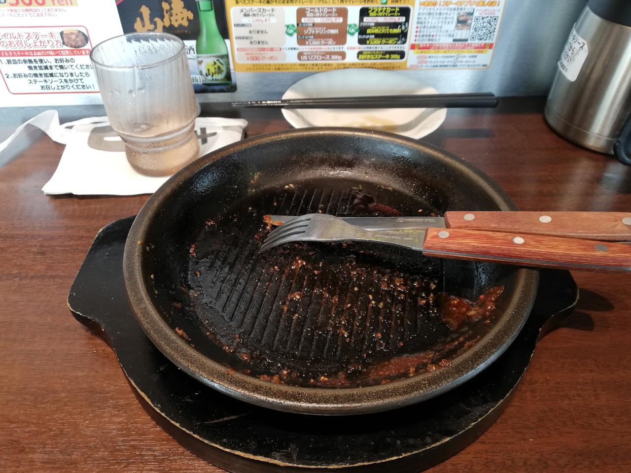 ワイルドステーキ300g完食