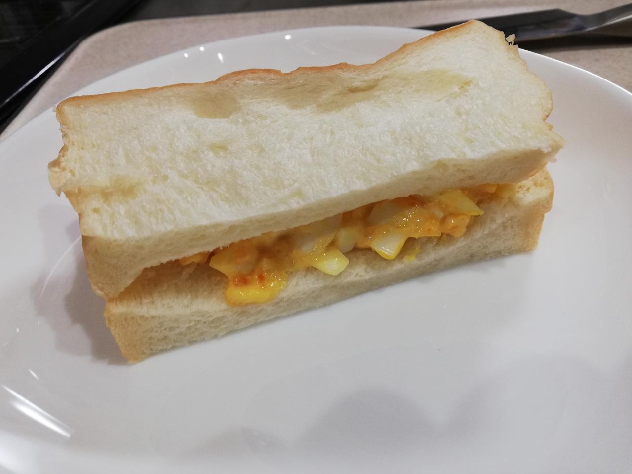 乃がみの食パンで作るタマゴサンド