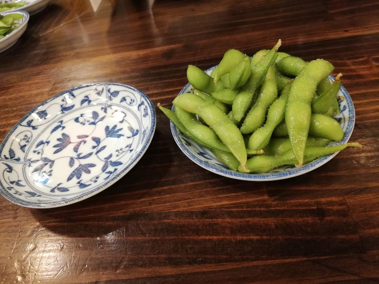 お通しの枝豆