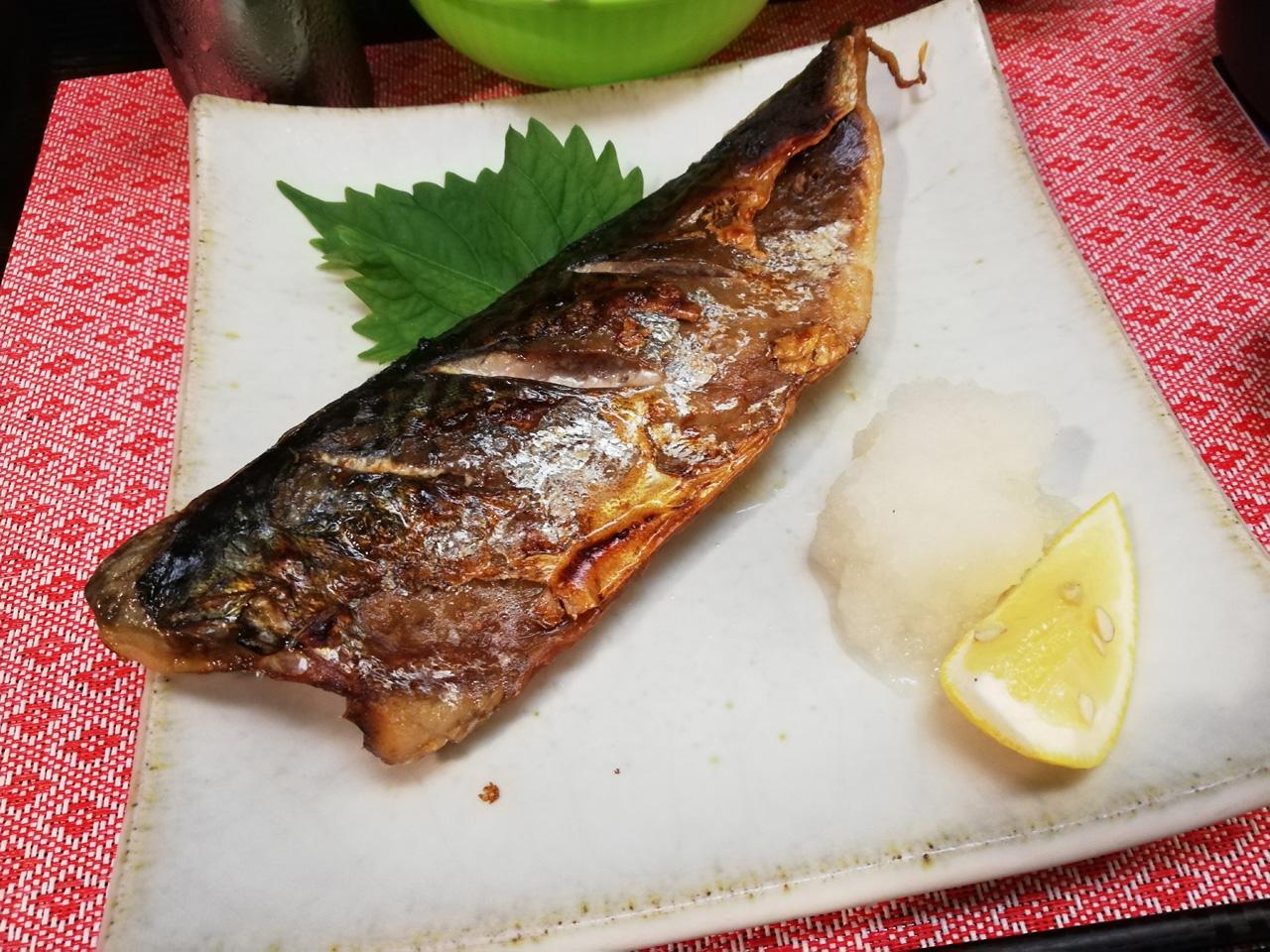 金華鯖の塩焼き