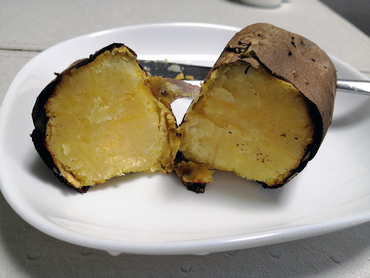完成した焼き芋