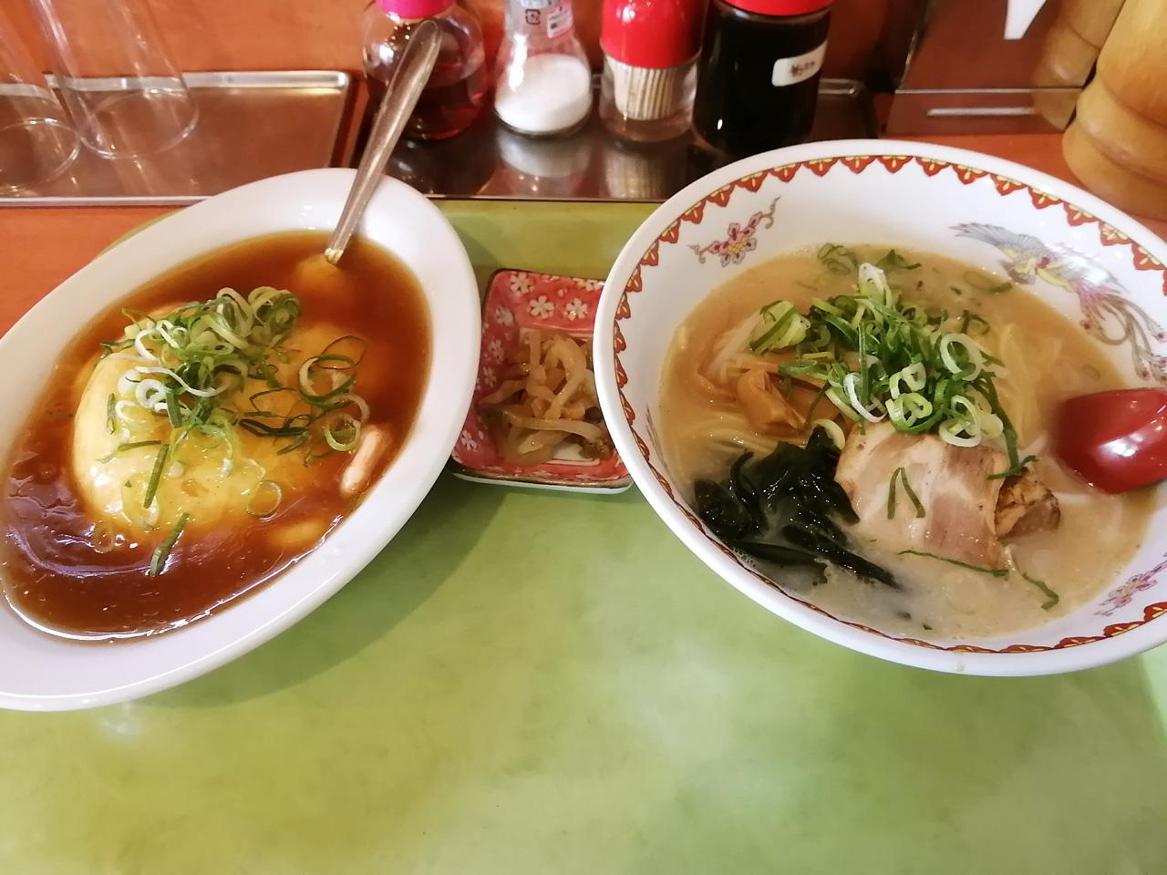 天津飯ラーメンランチ